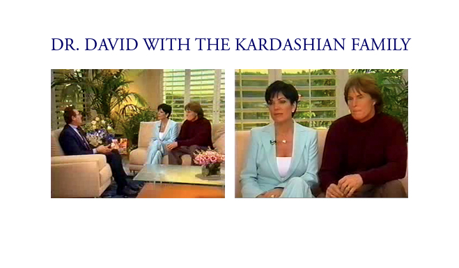 Dr. David with the Kardashian family